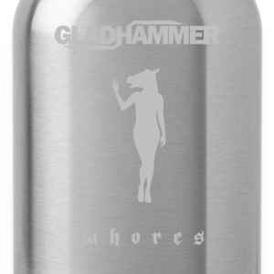 Gladhammer Whores Silver logo T-Shirts - Water Bottle
