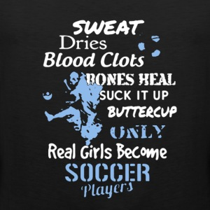 Soccer Girl Player Shirt - Men's Premium Tank
