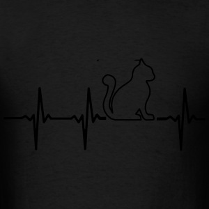 MY HEART BEATS FOR CATS Bags & backpacks - Men's T-Shirt