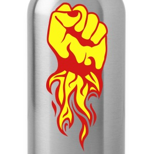 closed fist fire flame Kids' Shirts - Water Bottle