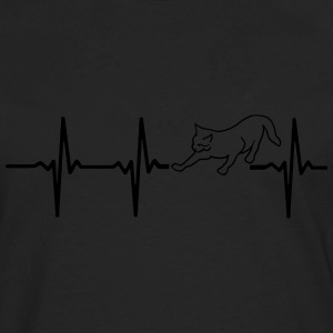 MY HEART BEATS FOR CATS T-Shirts - Men's Premium Long Sleeve T-Shirt