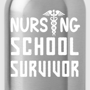 Nursing school survivor nurses funny t-shirt - Water Bottle