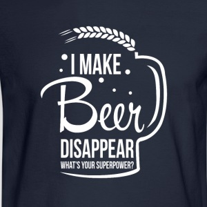 I make beer disappear. What's your superpower? - Men's Long Sleeve T-Shirt