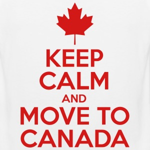 Keep Calm And Move to Canada - Men's Premium Tank