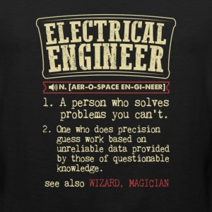 Electrical Engineer Funny Dictionary Term Men's Ba T-Shirts - Men's Premium Tank