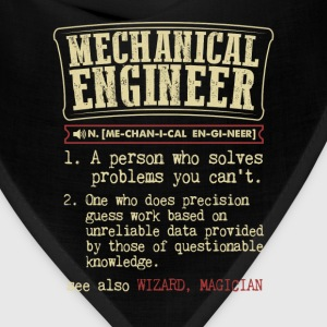Mechanical Engineer Funny Dictionary Term Men's Ba T-Shirts - Bandana