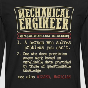 Mechanical Engineer Funny Dictionary Term Men's Ba T-Shirts - Men's Premium Long Sleeve T-Shirt