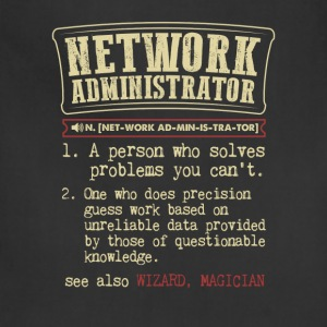 Network Administrator Funny Dictionary Term Men's  T-Shirts - Adjustable Apron