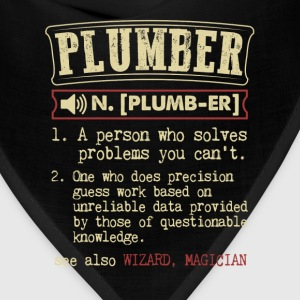 Plumber Funny Dictionary Term Men's Badass T-Shirt T-Shirts - Bandana