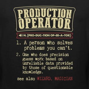 Production Operator Funny Dictionary Term Men's Ba T-Shirts - Men's Premium Tank