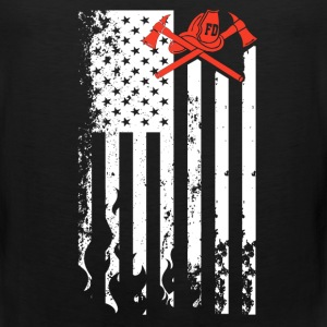 Firefighter Flag Shirt - Men's Premium Tank