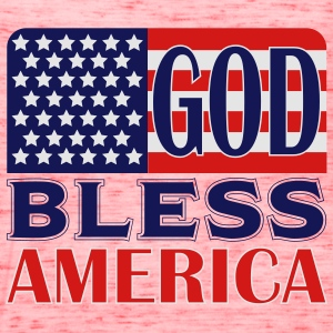 God Bless America Women's T-Shirts - Women's Flowy Tank Top by Bella