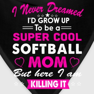 Softball Mom Funny T-Shirt T-Shirts - Bandana