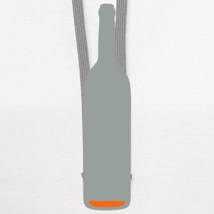 bottle almost empty alcohol background 1 T-Shirts - Contrast Hoodie