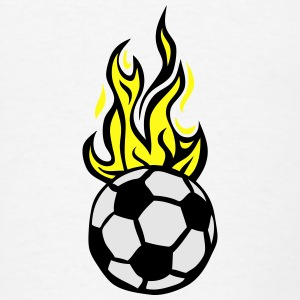 soccer ball flame fire flame cartoon Hoodies - Men's T-Shirt