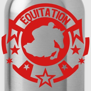 equitation logo pad 301 horse rider Women's T-Shirts - Water Bottle
