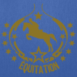 equitation logo pad 15 1 horse rider Tanks - Tote Bag