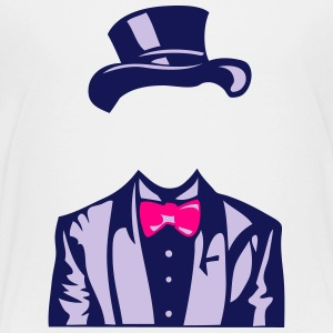 bowler suit bowtie 1 Kids' Shirts - Toddler Premium T-Shirt