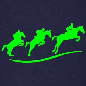jumper riding horse jumping obstacle Long Sleeve Shirts - Men's T-Shirt