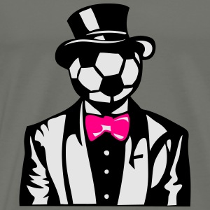 soccer bowler suit bowtie 1 Long Sleeve Shirts - Men's Premium T-Shirt