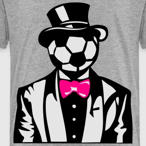 soccer bowler suit bowtie 1 Kids' Shirts - Toddler Premium T-Shirt