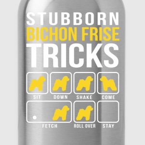 Stubborn Bichon Tricks Funny T-Shirt T-Shirts - Water Bottle