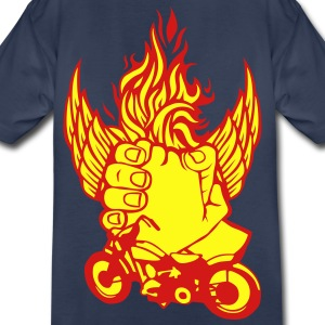 flame handshake motorcycle biker 1 Kids' Shirts - Toddler Premium T-Shirt