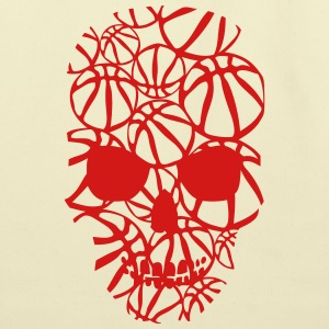 basketball skull form ball T-Shirts - Eco-Friendly Cotton Tote