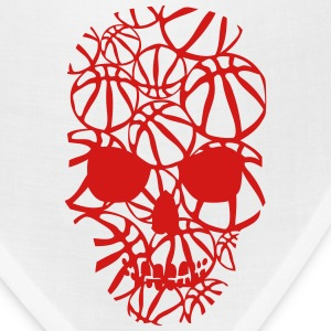 basketball skull form ball T-Shirts - Bandana