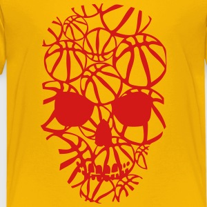 basketball skull form ball Kids' Shirts - Toddler Premium T-Shirt