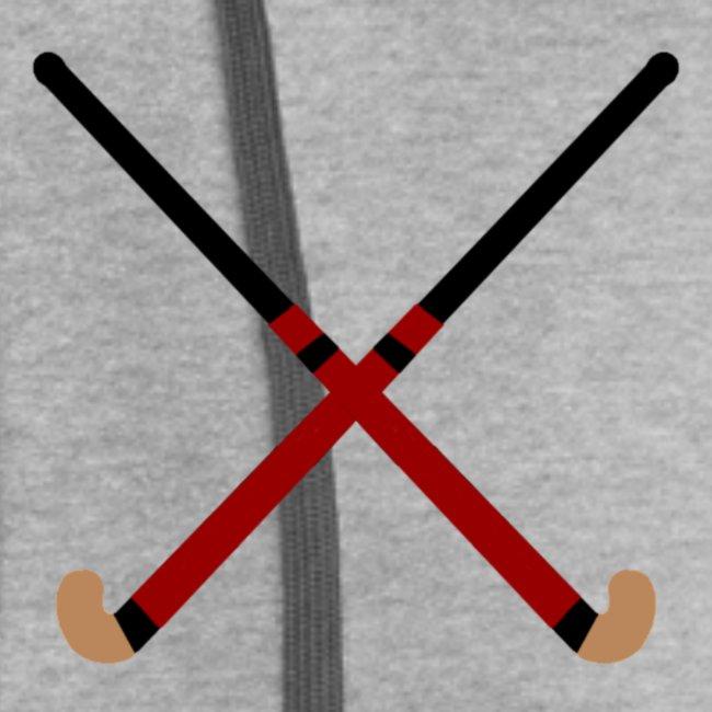 Crossed Field Hockey Sticks