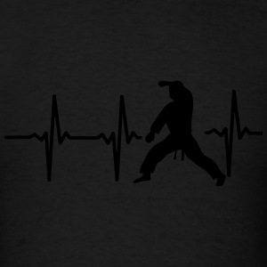 MY HEART BEAT FOR MARTIAL ARTS! Zip Hoodies & Jackets - Men's T-Shirt