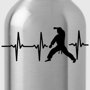 MY HEART BEAT FOR MARTIAL ARTS! Zip Hoodies & Jackets - Water Bottle
