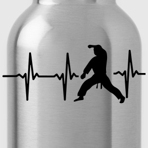 MY HEART BEAT FOR MARTIAL ARTS! Polo Shirts - Water Bottle