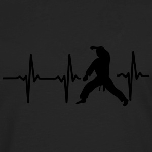 MY HEART BEAT FOR MARTIAL ARTS! Polo Shirts - Men's Premium Long Sleeve T-Shirt