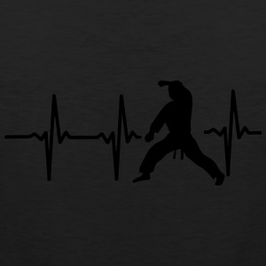 MY HEART BEAT FOR MARTIAL ARTS! Polo Shirts - Men's Premium Tank