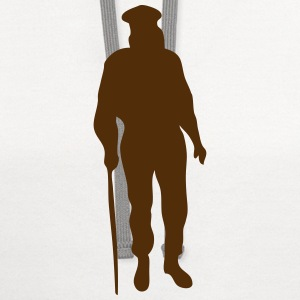 silhouette old man cane 1 T-Shirts - Contrast Hoodie