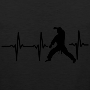 MY HEART BEAT FOR MARTIAL ARTS! Women's T-Shirts - Men's Premium Tank