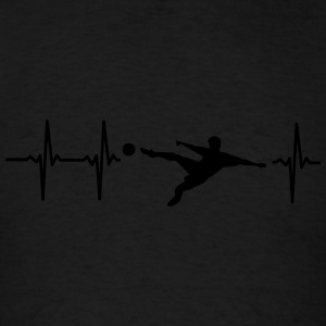 MY HEART BEATS FOR SOCCER! Polo Shirts - Men's T-Shirt