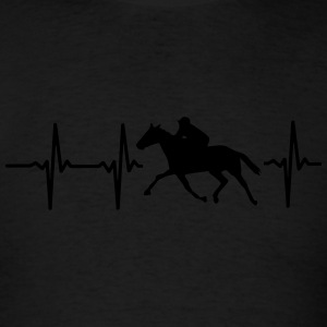 MY HEART BEATS FOR HORSE RACING! Hoodies - Men's T-Shirt