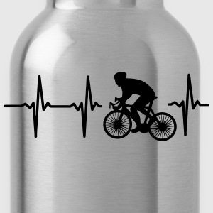 MY HEART BEATS FOR CYCLING! Polo Shirts - Water Bottle
