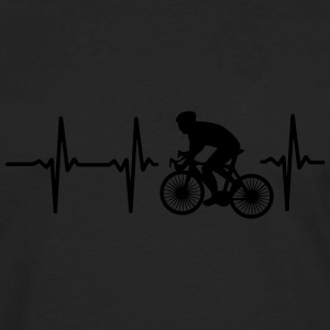 MY HEART BEATS FOR CYCLING! Polo Shirts - Men's Premium Long Sleeve T-Shirt
