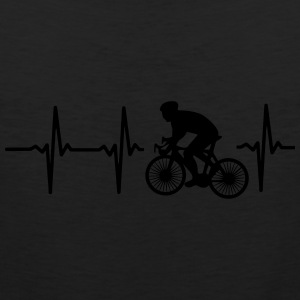 MY HEART BEATS FOR CYCLING! Polo Shirts - Men's Premium Tank