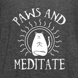 paws and meditate - Women's Flowy Tank Top by Bella