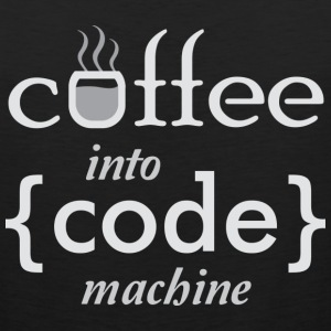 Coffee into Code machine T-Shirts - Men's Premium Tank