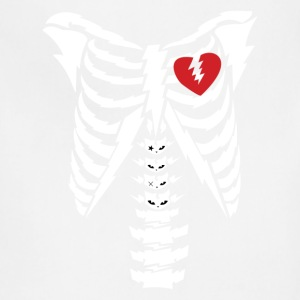 Rib cage with heart design T-Shirts - Adjustable Apron