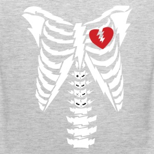 Rib cage with heart design T-Shirts - Men's Premium Tank