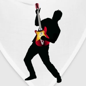Stylish man with guitar design T-Shirts - Bandana