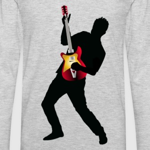 Stylish man with guitar design T-Shirts - Men's Premium Long Sleeve T-Shirt