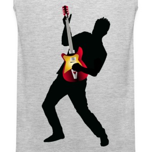 Stylish man with guitar design T-Shirts - Men's Premium Tank